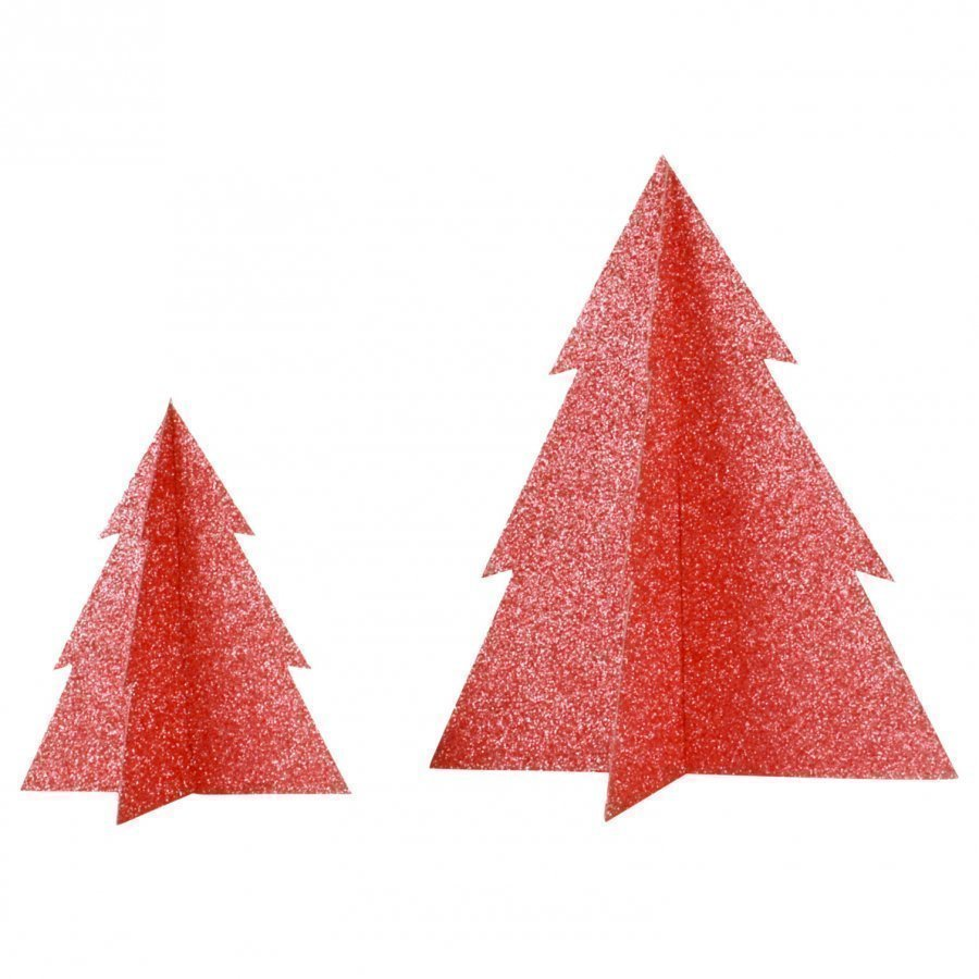 My Little Day Glitter Christmas Tree Red Large Juhlatarvike