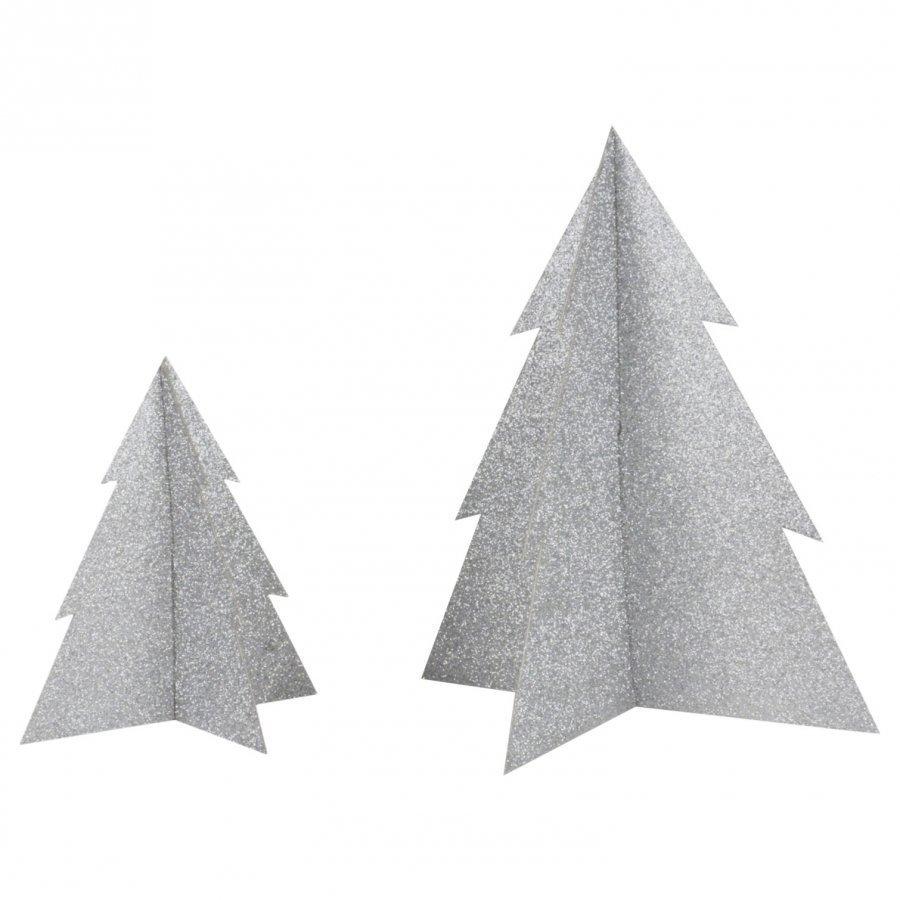 My Little Day Glitter Christmas Tree Silver Large Juhlatarvike