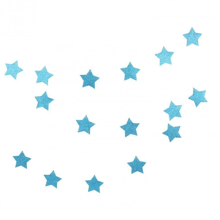 My Little Day Glitter Star Garland Blue Juhlatarvike