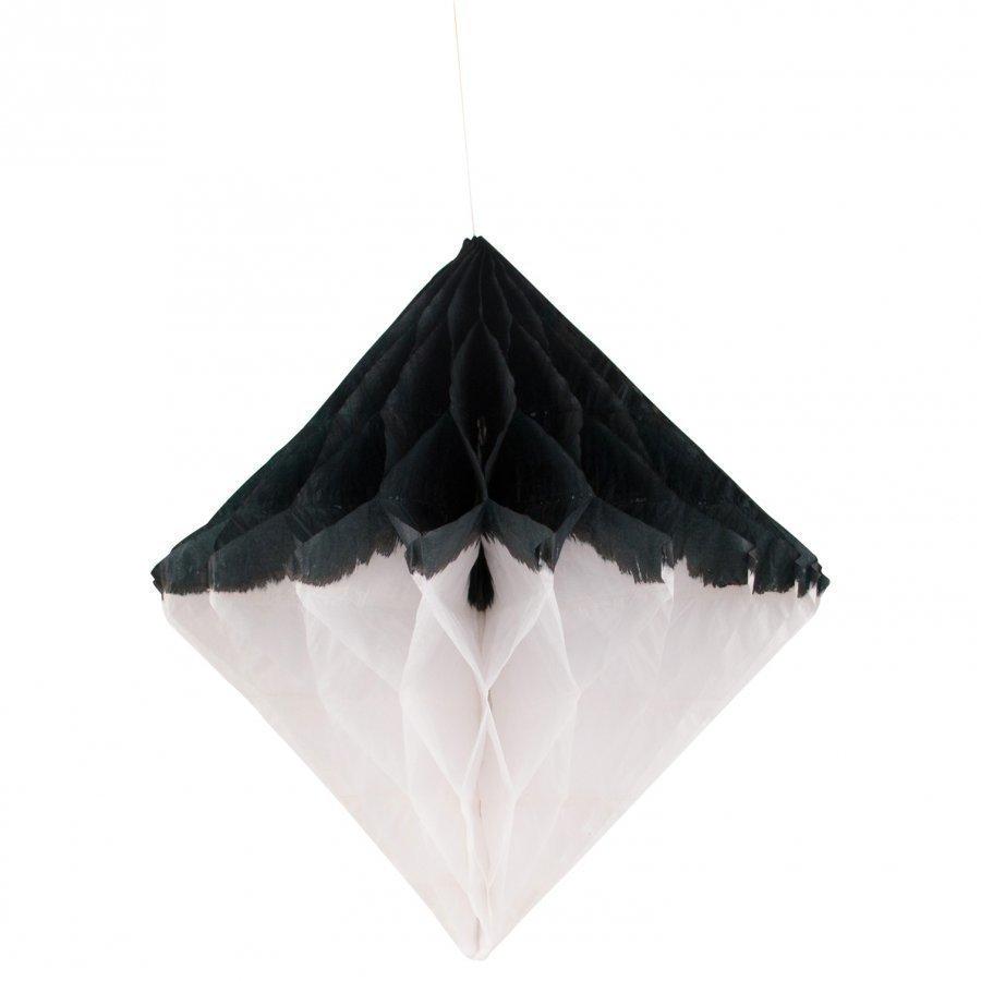 My Little Day Honeycomb Paper Diamond Black & White Juhlatarvike