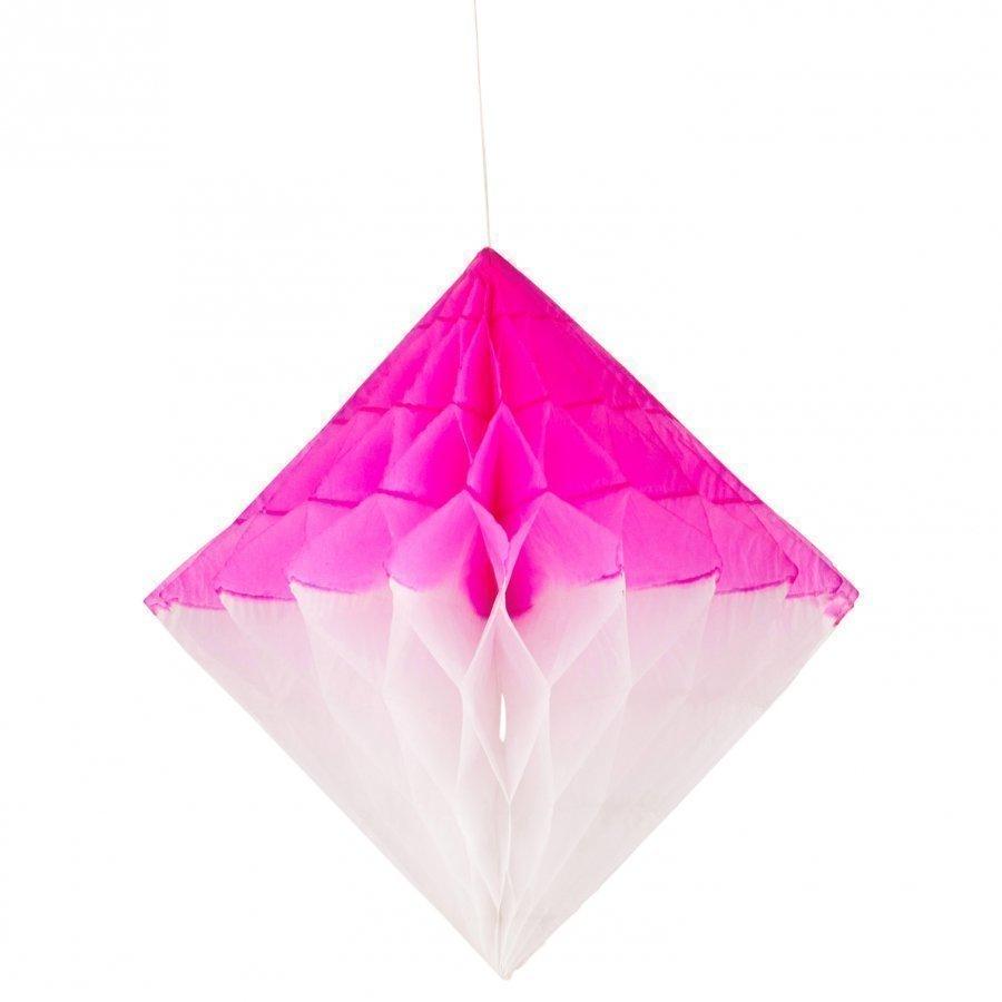 My Little Day Honeycomb Paper Diamond Bright Pink & White Juhlatarvike