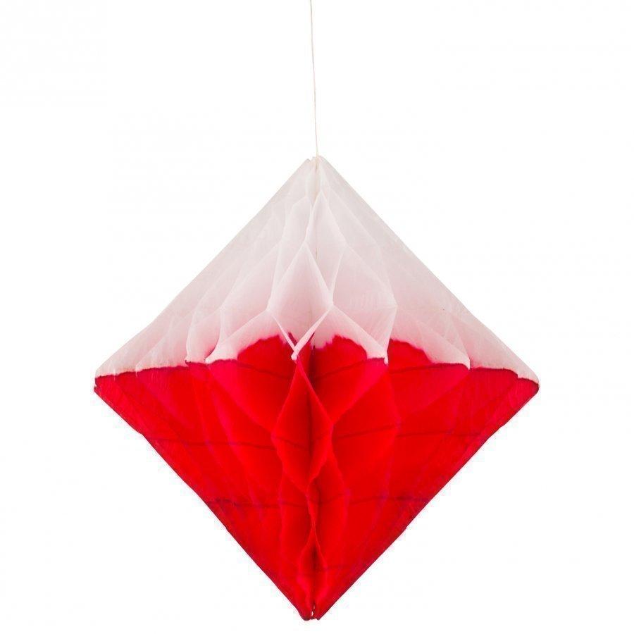 My Little Day Honeycomb Paper Diamond Red & White Juhlatarvike