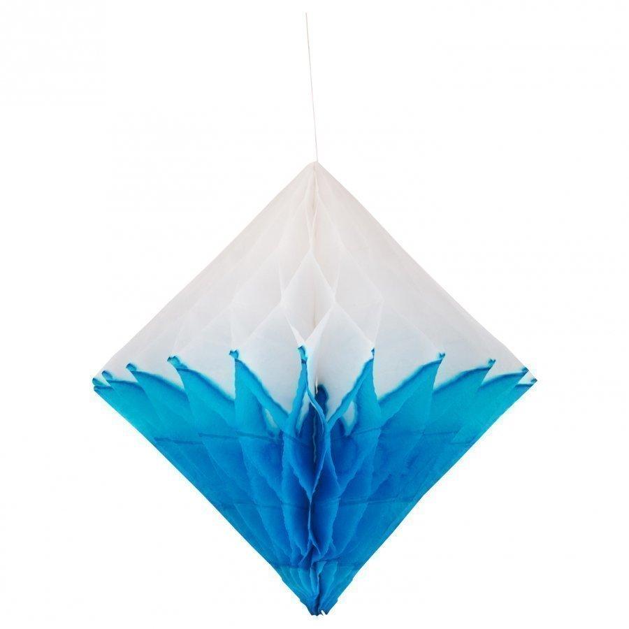 My Little Day Honeycomb Paper Diamond Turquoise & White Juhlatarvike