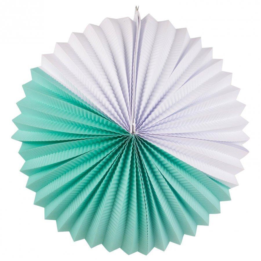 My Little Day Paper Lantern Aqua & White Juhlatarvike