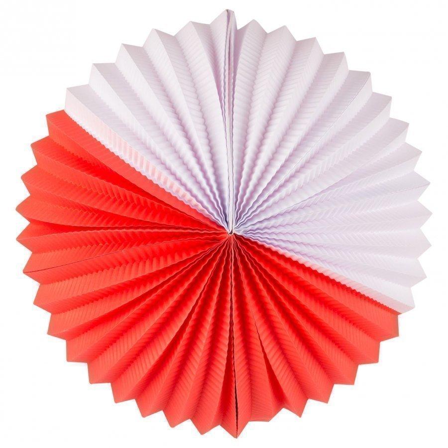 My Little Day Paper Lantern Red & White Juhlatarvike