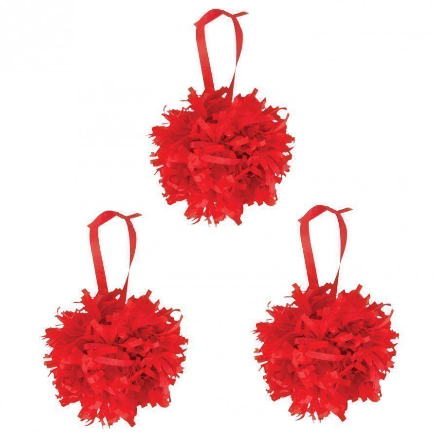My Little Day Paper Pompoms Red Juhlatarvike