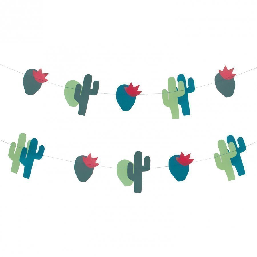 My Little Day Theme Paper Garland Cactus Juhlatarvike