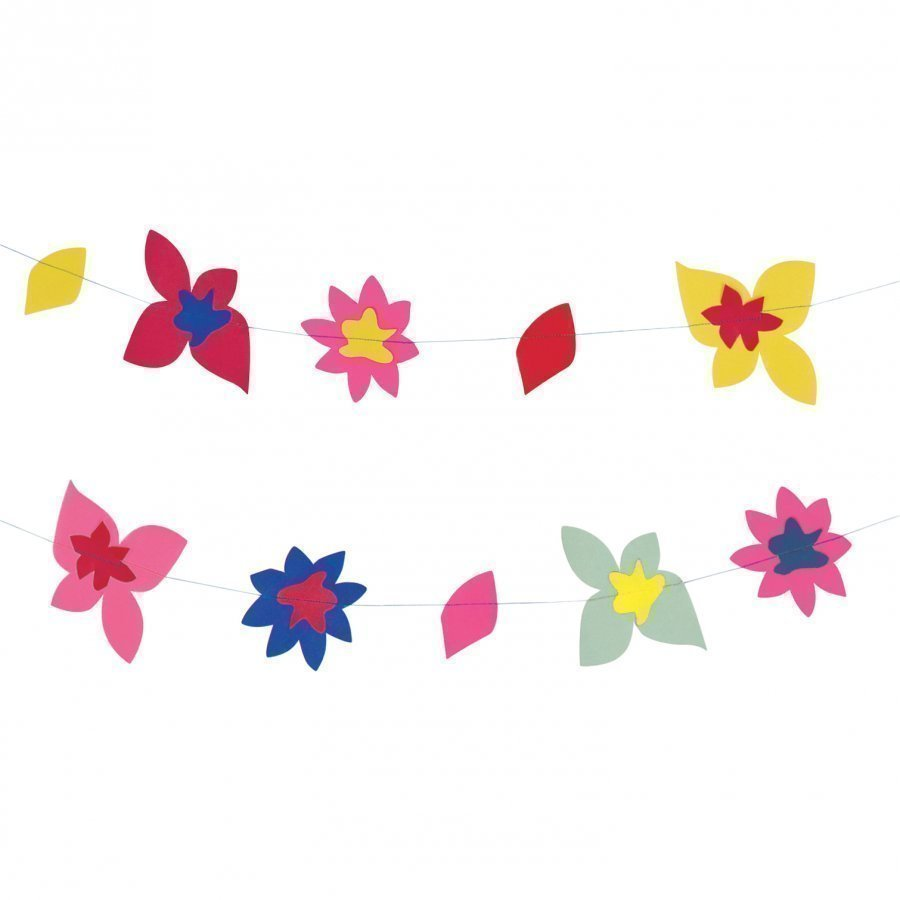 My Little Day Theme Paper Garland Tropical Flowers Juhlatarvike