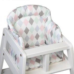 NG Baby Harlequin Syöttötuolin pehmuste Vaaleanpunainen