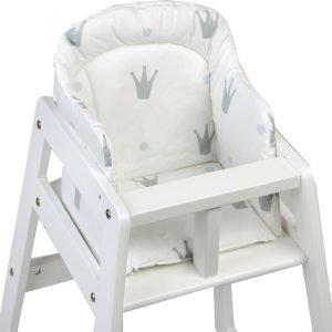 NG Baby Royal Syöttötuolin pehmuste Valkoinen/harmaa