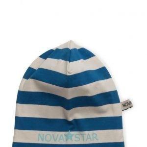 NOVA STAR Striped Beanie Sea Blue