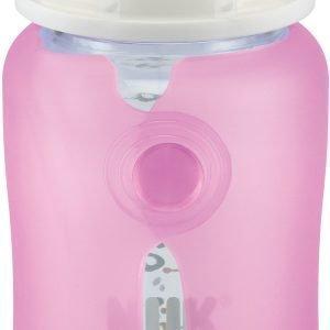 NUK Silikonisuojus lasipullolle Wide neck 240 ml Vaaleanpunainen