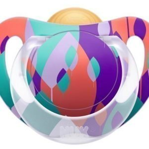 NUK Tutti Lateksi Genius Color 18-36 kk 1 kpl Liila