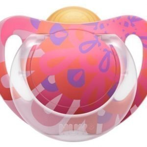 NUK Tutti Lateksi Genius Color 18-36 kk 1 kpl Vaaleanpunainen