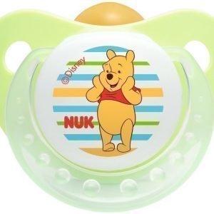 NUK Tutti Nalle Puh Lateksia 6-18 kk 1 kpl Vihreä