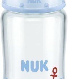NUK Tuttipullo First Choice+ Antikoliikki Lasia 240 ml Sininen
