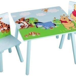 Nalle Puh Pöytä ja kaksi tuolia
