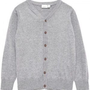 Name It Neulepusero Vakke V-Neck Grey Melange