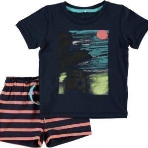 Name it T-paita ja shortsit Icolai Mini Dress Blues