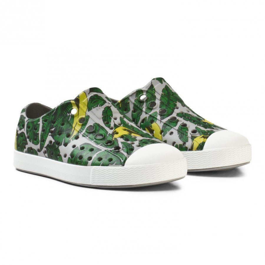 Native Grey Leaf Print Jefferson Rubber Trainers Lenkkarit