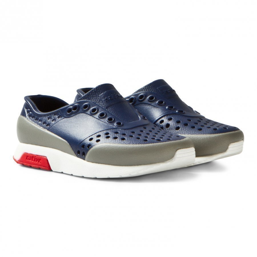 Native Navy Lennox Perforated Trainers Lenkkarit