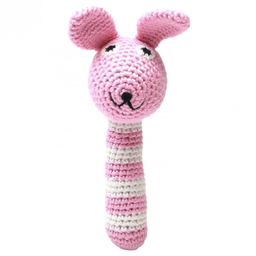 Naturezoo Miss Rabbit Pink Rattle Stick Helistin