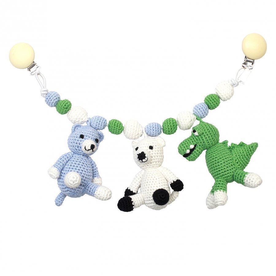Naturezoo Mr. Crocodile Sir Polarbear And Mr. Teddy Large Stroller Mobile Vaunulelu