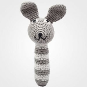 Naturezoo Mr. Rabbit Grey Rattle Stick Helistin