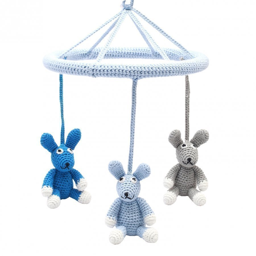 Naturezoo Three Rabbits Circle Mobile Blue Mobile