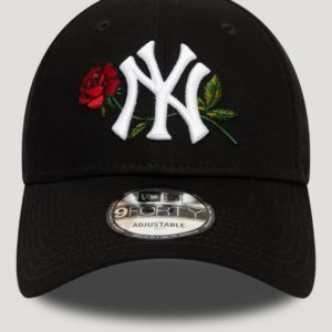 New Era Mens Twine Mlb 9forty Neyyan Lippis Musta