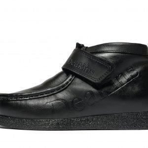 Nicholas Deakins Kain Strap Apron Boots Musta