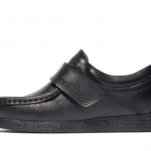 Nicholas Deakins Kain Strap Apron Shoes Musta