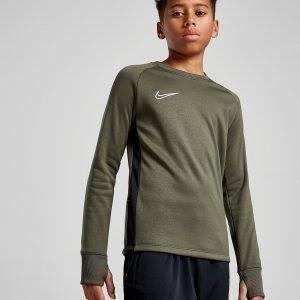 Nike Academy Crew Sweatshirt Khaki / White