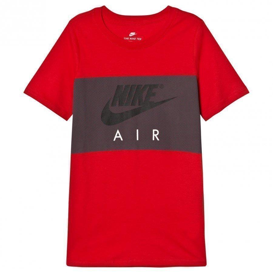Nike Air Block T-Shirt In Red T-Paita