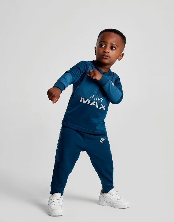 Nike Air Max Poly 1/4 Zip Tracksuit Infant Sininen