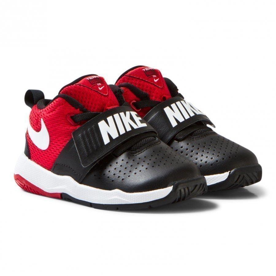 Nike Black And Red Team Hustle Infants Trainers Urheilukengät
