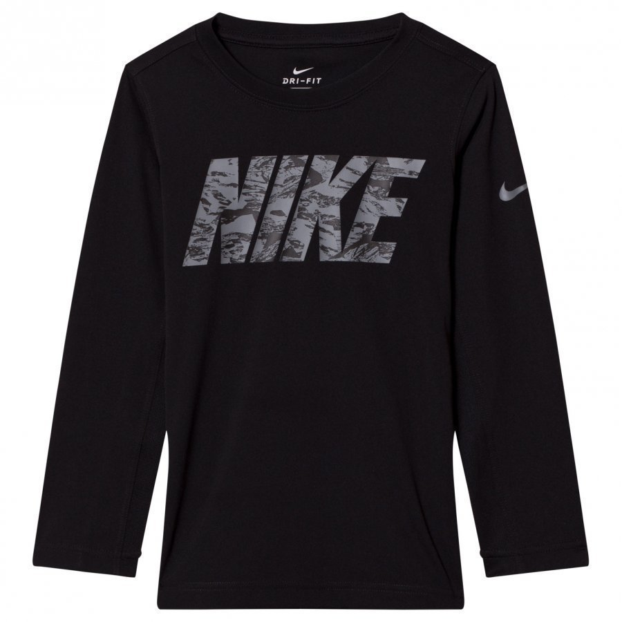 Nike Black Nike Dry Legacy Long Sleeve Tee Pitkähihainen T-Paita