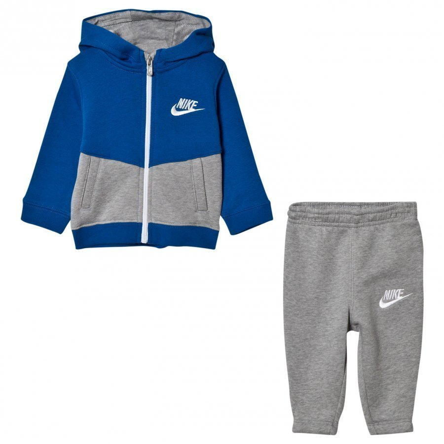 Nike Blue And Grey Infants Fleece Track Suit Verryttelyasu
