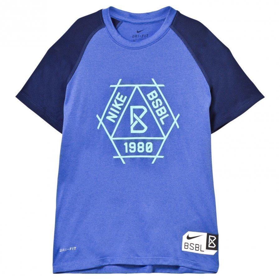 Nike Blue Baseball Dry Tee T-Paita
