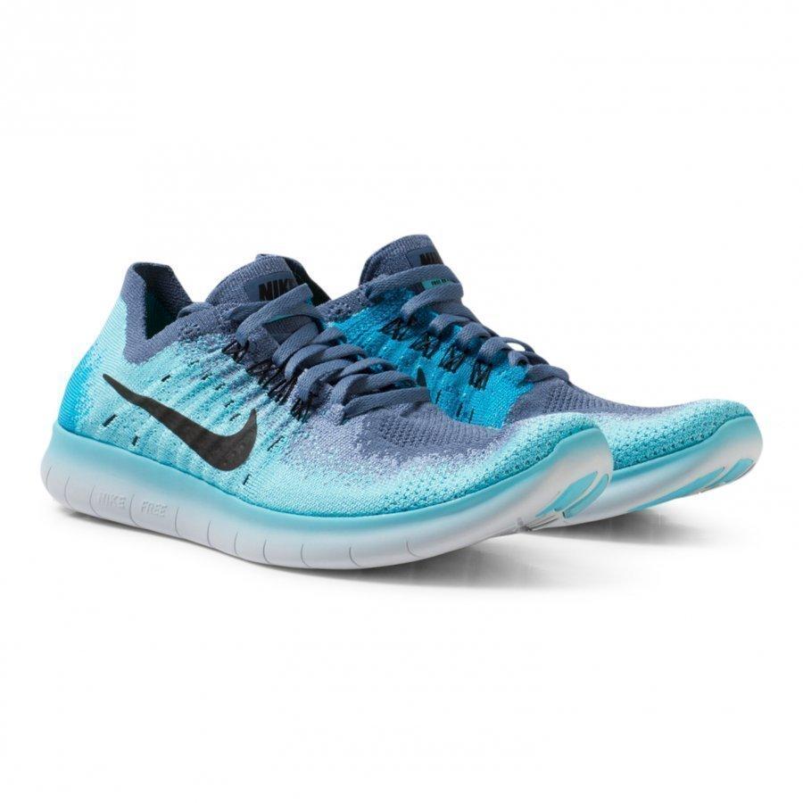 Nike Blue Junior Flyknit 2017 Free Run Trainers Urheilukengät