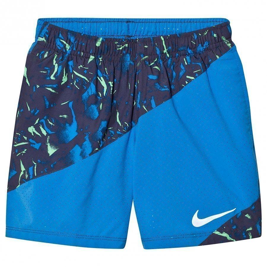 Nike Blue Printed Running Shorts Urheilushortsit
