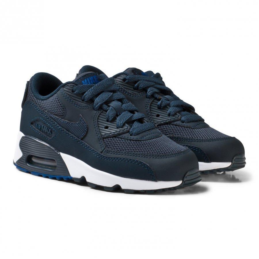 Nike Boys Navy Nike Air Max 90 Mesh Kids Shoe Lenkkarit