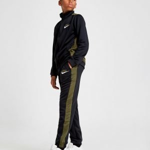 Nike Colour Block Poly Tracksuit Khaki / Black