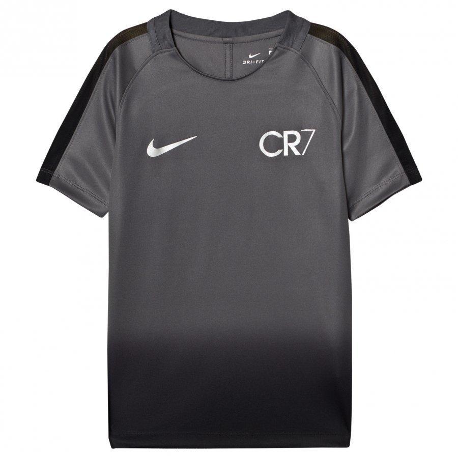 Nike Dark Grey Black Unisex Cr7 Dry Squad Soccer Tee Treenipaita