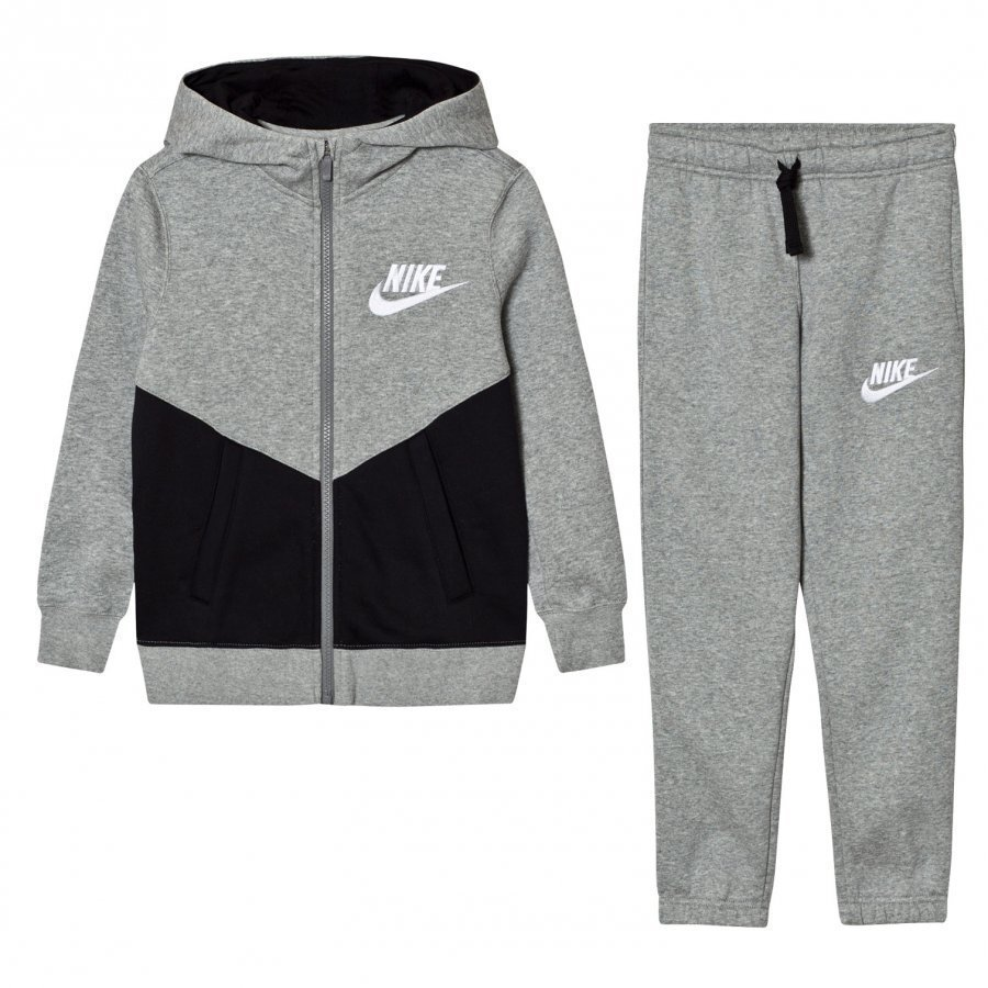Nike Fleece Core Tracksuit Dark Gray Heather Verryttelyasu