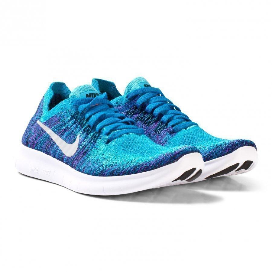 Nike Flyknit 2017 Free Run Junior Trainer Purple/Aqua Urheilukengät