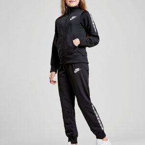 Nike Girls' Poly Tape Tracksuit Musta