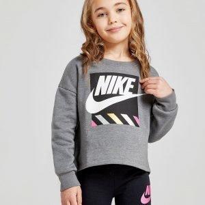 Nike Girls' Shine Crop Crew Sweatshirt Harmaa