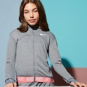 Nike Girls' Studio Full Zip Hoodie Harmaa