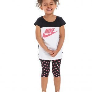 Nike Girls' T-Shirt + Capri Set Musta